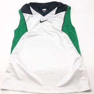 NIKE Flight Green, White & Black Sports Jersey-S